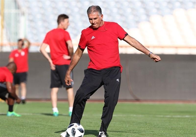 گزارش تمرین تیم ملی فوتبال، کی روش انتها لباس ورزشی پوشید، ساکت با تاخیر آمد، معرفی مدیر رسانه ای جدید تیم ملی + تصاویر