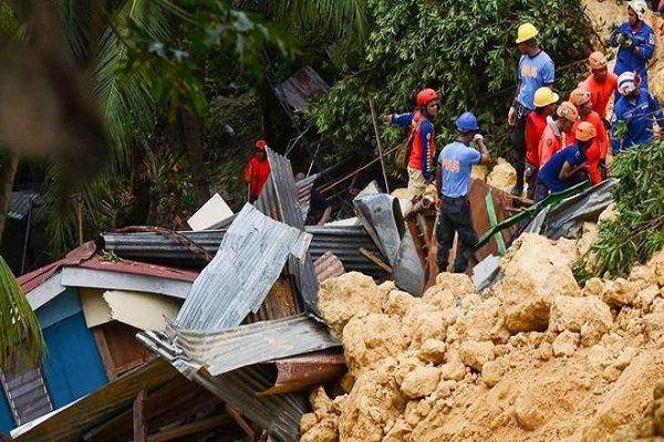 تلفات سیل و رانش زمین در فیلیپین به 85 نفر رسید، 16 نفرمفقود هستند