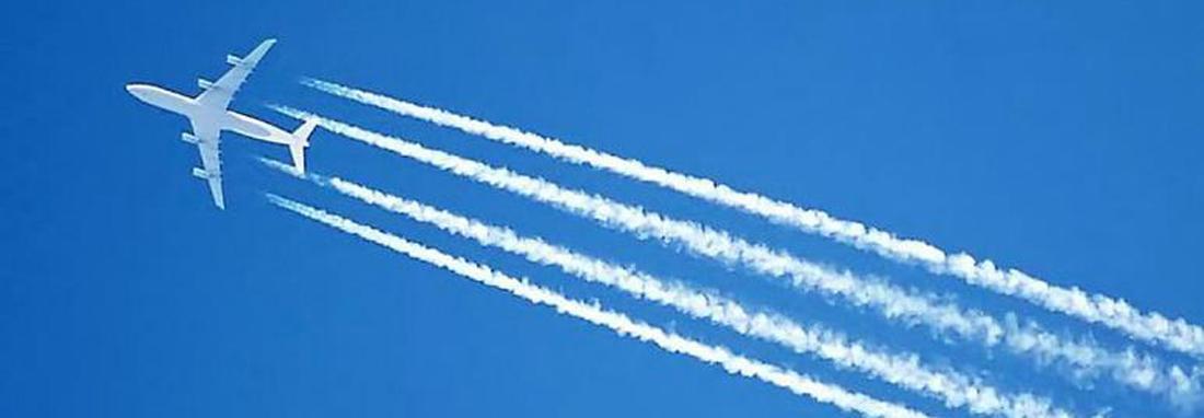 آیا دنباله سفید رنگ هواپیماها بر تغییرات اقلیمی تاثیر دارد؟