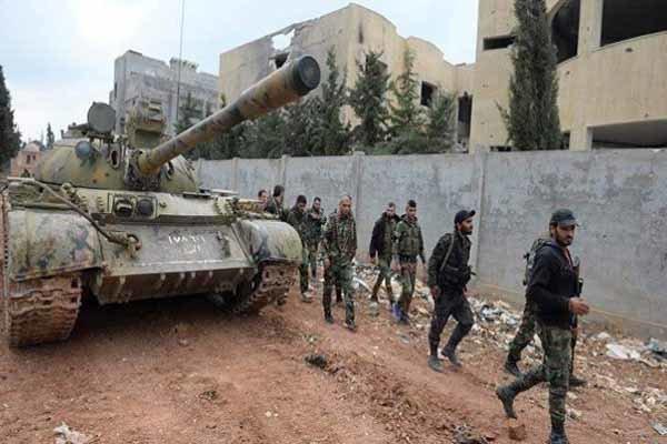 کنترل کامل خان شیخون در دستان ارتش سوریه