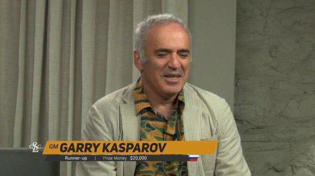 واکنش کاسپاروف به شکست در مسابقات فیشر و دریافت جایزه 20 هزار دلاری