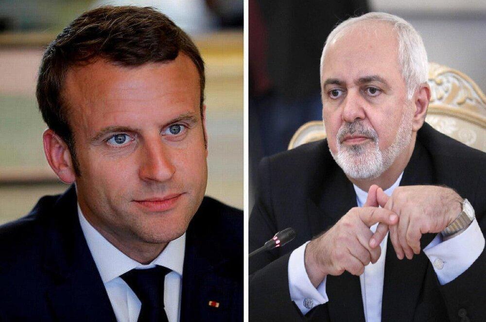 ورود ظریف به پاریس و بررسی پیشنهاد برجامی مکرون