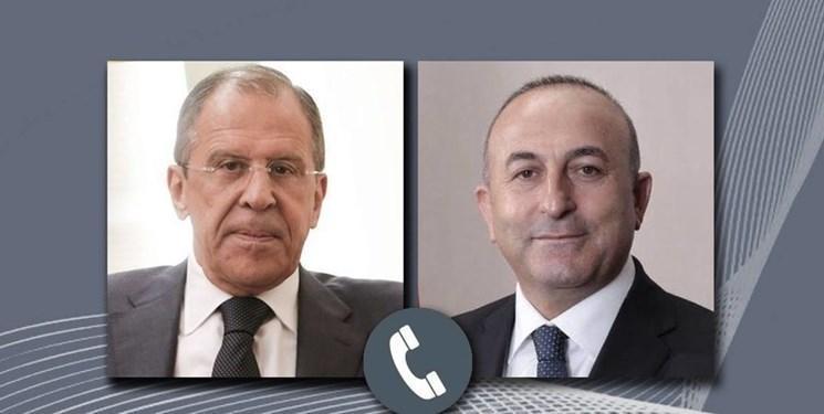 وزرای خارجه روسیه و ترکیه درباره سوریه گفت وگو کردند
