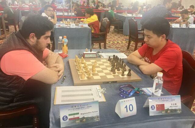 شکست فیروزجا در دور پنجم شطرنج قهرمانی آسیا، مقصودلو به تساوی رسید