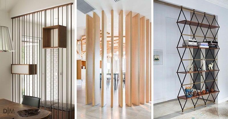15 ایده خلاقانه برای جدا کردن فضای داخلی اتاق