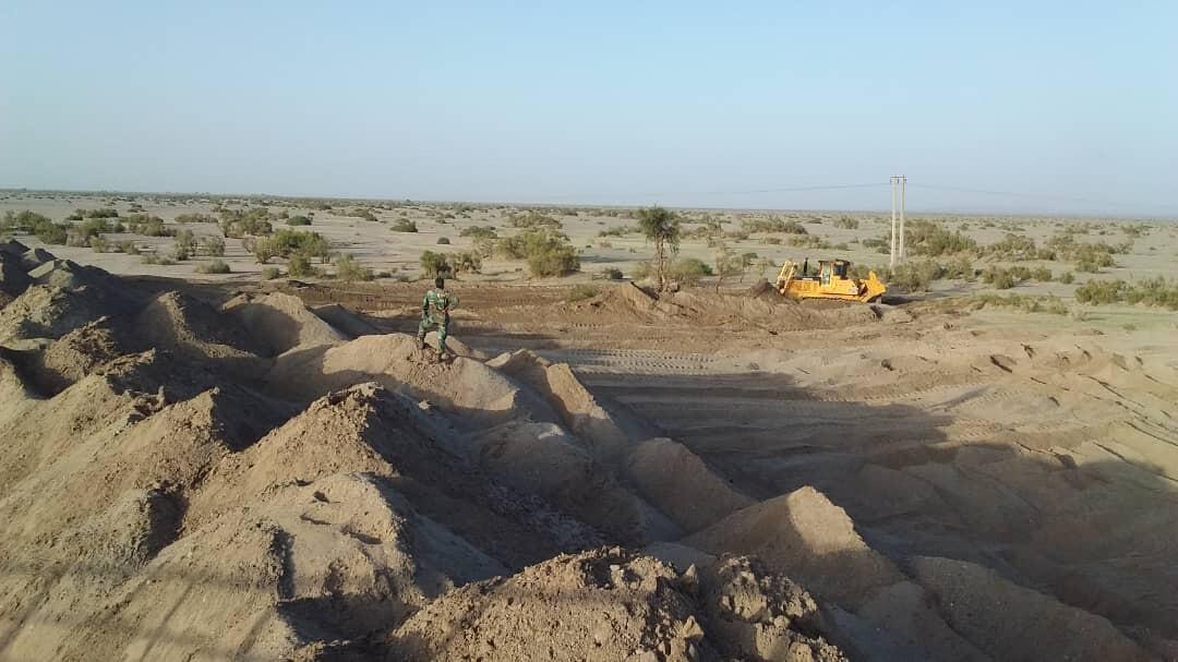 احداث سیل بندی به طول 700 متر در ریگان