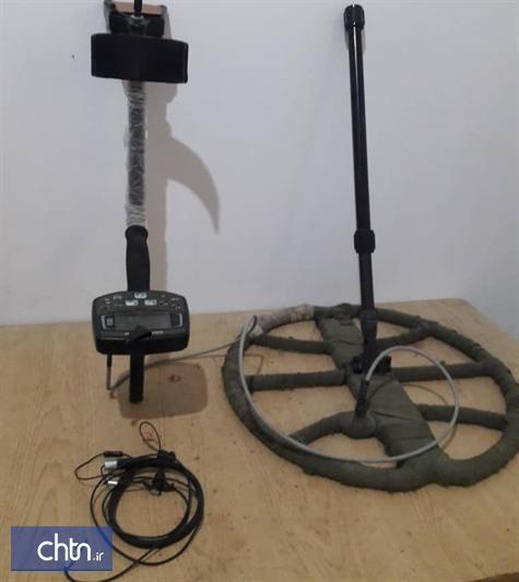 کشف و ضبط یک دستگاه فلز یاب و دستگیری 2 نفر در هفتکل