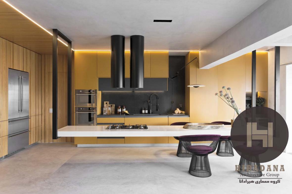طراحی و بازسازی آشپزخانه دیخون