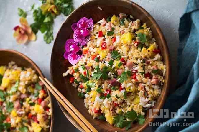 برنج سرخ شده هاوایی