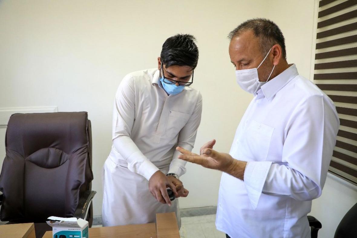 اهدای خون و غربال گری کارکنان سازمان منطقه آزاد چابهار